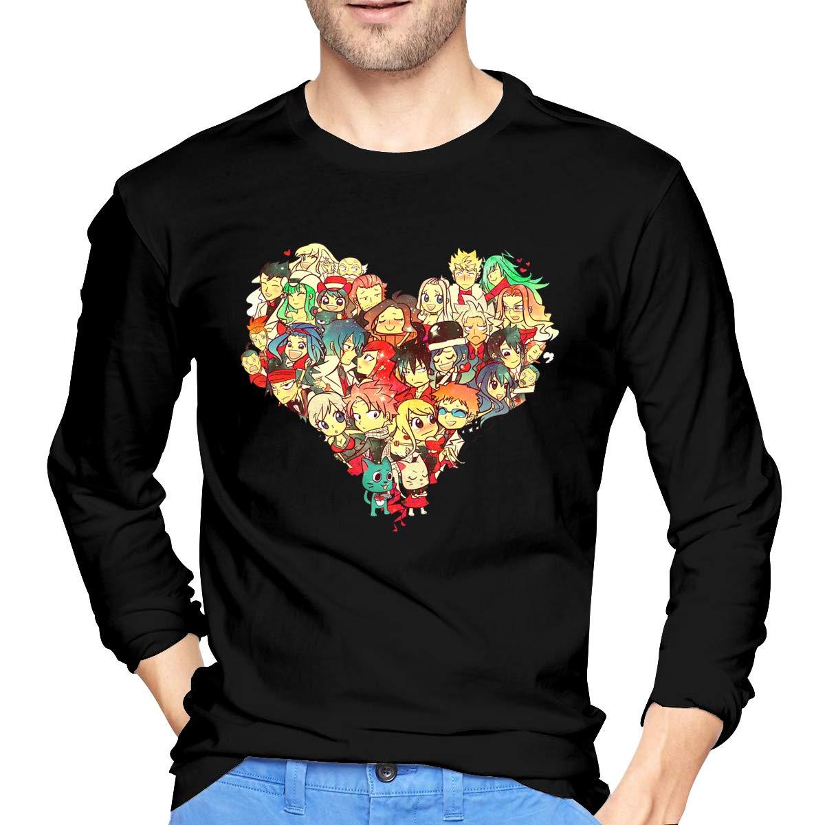 AIDEAR Fairy Tail Mens Long Sleeve T-Shirts 100/% Organic Cotton Long Sleeve Tshirts for Men
