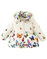 BOBORA Coat Toddler Jacket Outwear Baby Girl Butterfly Pattern Winter Clothes