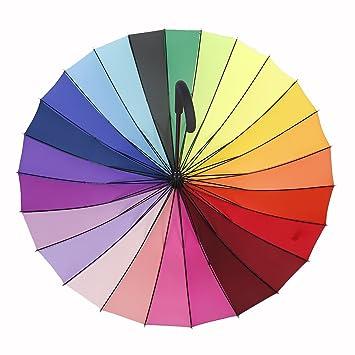 Loveface Gran Boda del arco iris / Fotógrafos Paraguas - multicolor 120cm de diámetro,24