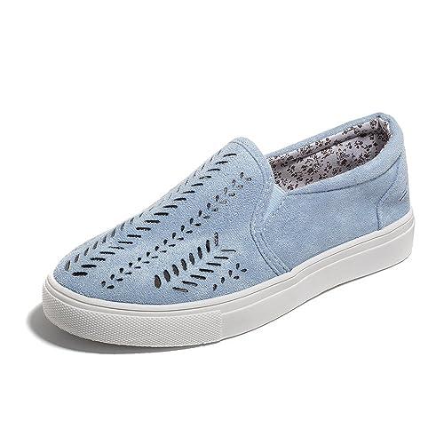 Poplover Mujer Zapatos con Hueco Verano Alpargatas Zapatos Casual Transpirable Mocasines Zapatos Planos 35-42: Amazon.es: Zapatos y complementos