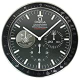 OMEGA Black Silent Luminous Sweep Wall Clock