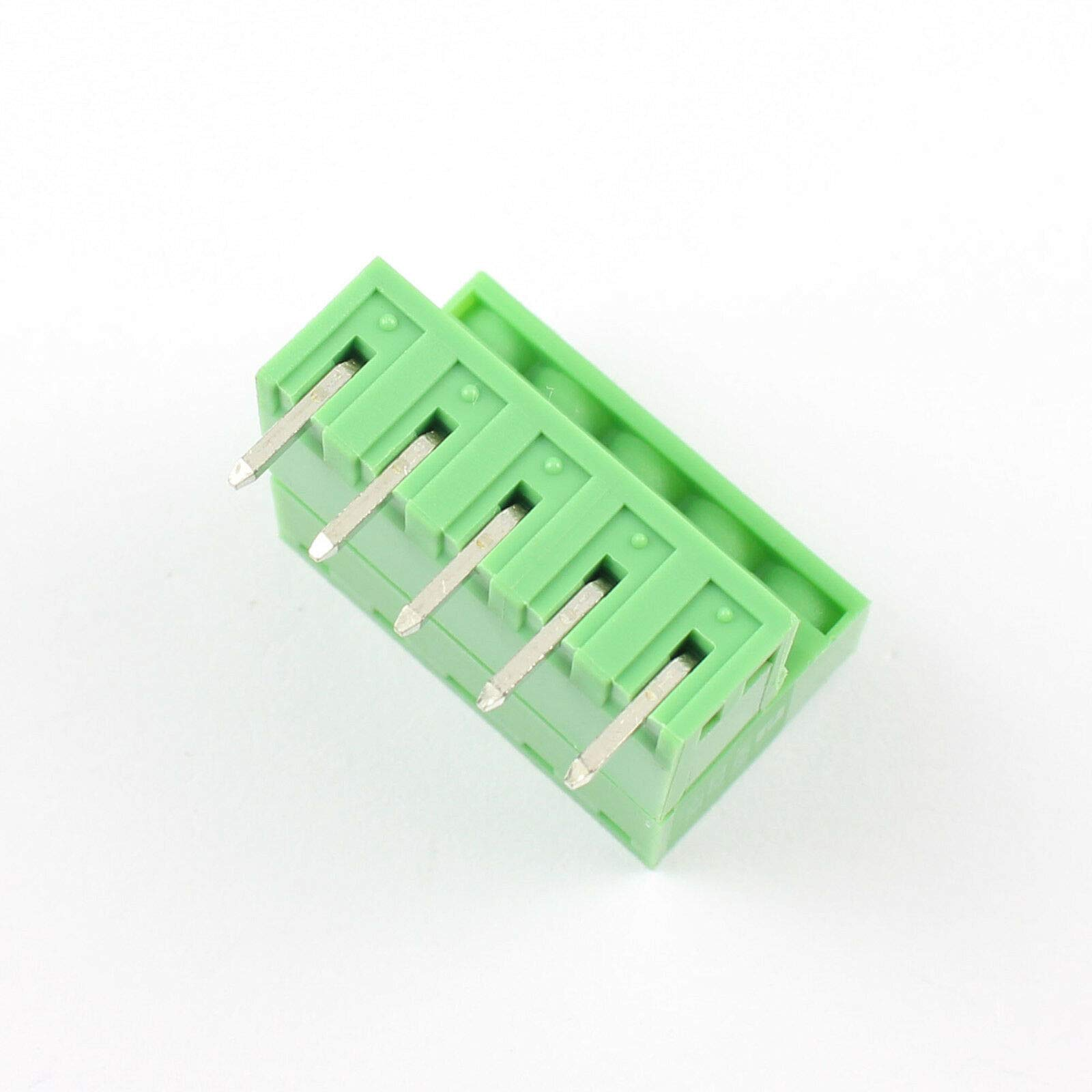 DBParts 10pcs 7-Pin 7 Pole Plug-in Screw Terminal Block Connector 2.54mm 0.1 Pitch Panel PCB Mount DIY