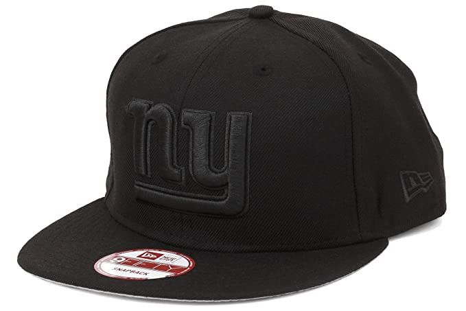 ee730448daba26 Image Unavailable. Image not available for. Color: New Era 9fifty New York  Giants Snapback Hat Cap All Black