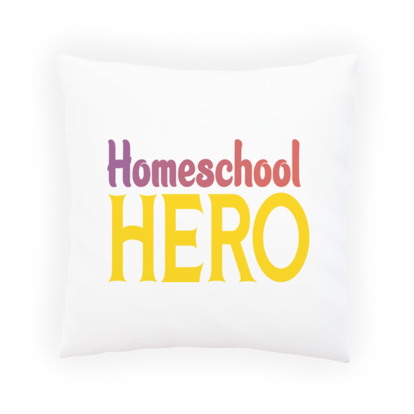 Homeschool Hero 1 Decorative Pillow , Cushion cover with Insert or Without s959p