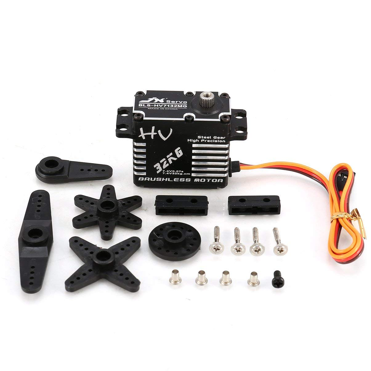 JullyeleDEgant JX BLS-HV7132MG 32 32 32 KG Metalllenkung Digital Gear HV Brushless Servo mit Hochspannung für RC Car Robot Flugzeug Drohne c00165