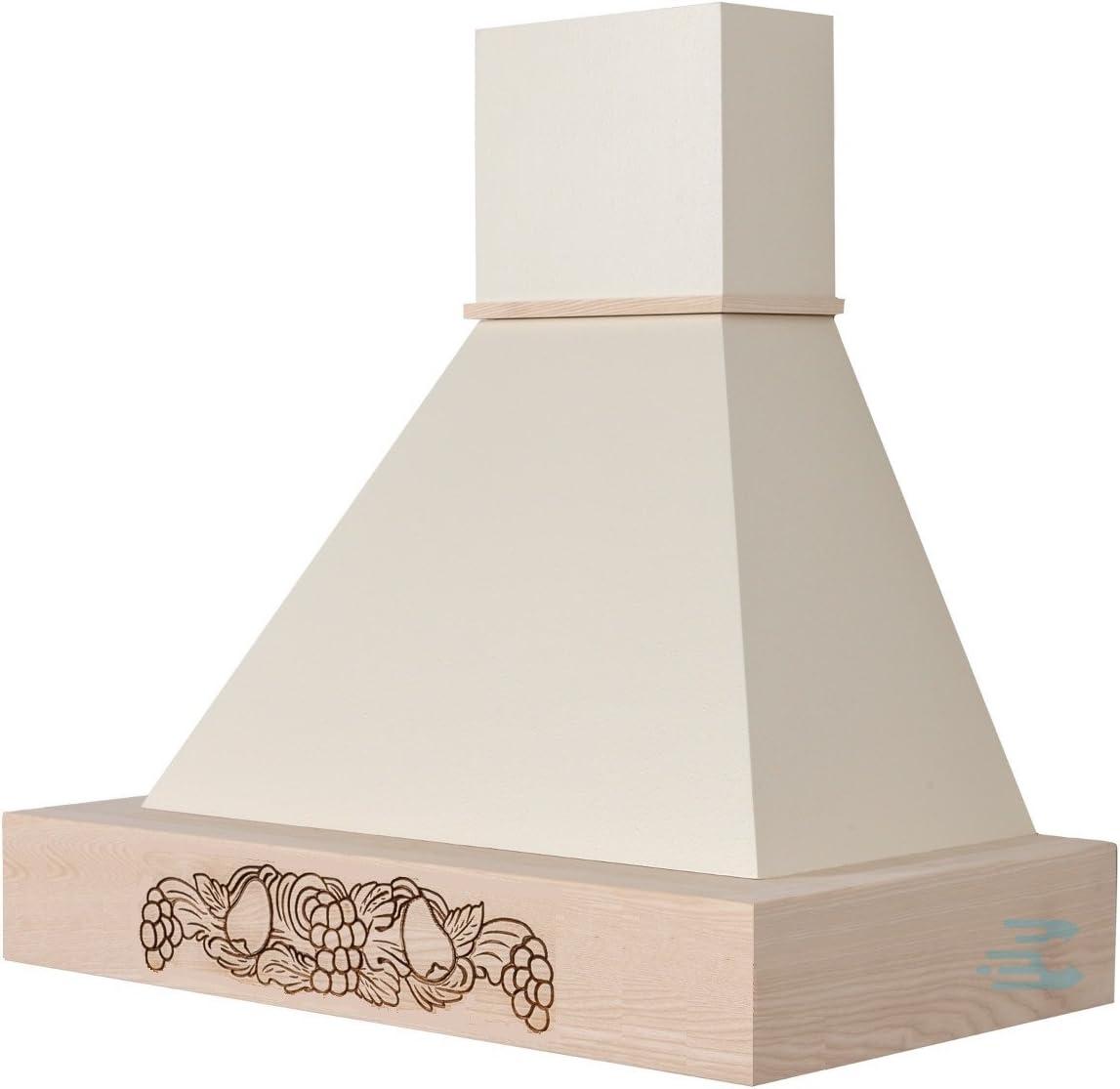 Campana de cocina rústica Mod. Vanessa, de pared – borde de color crema sin pulir: Amazon.es: Hogar