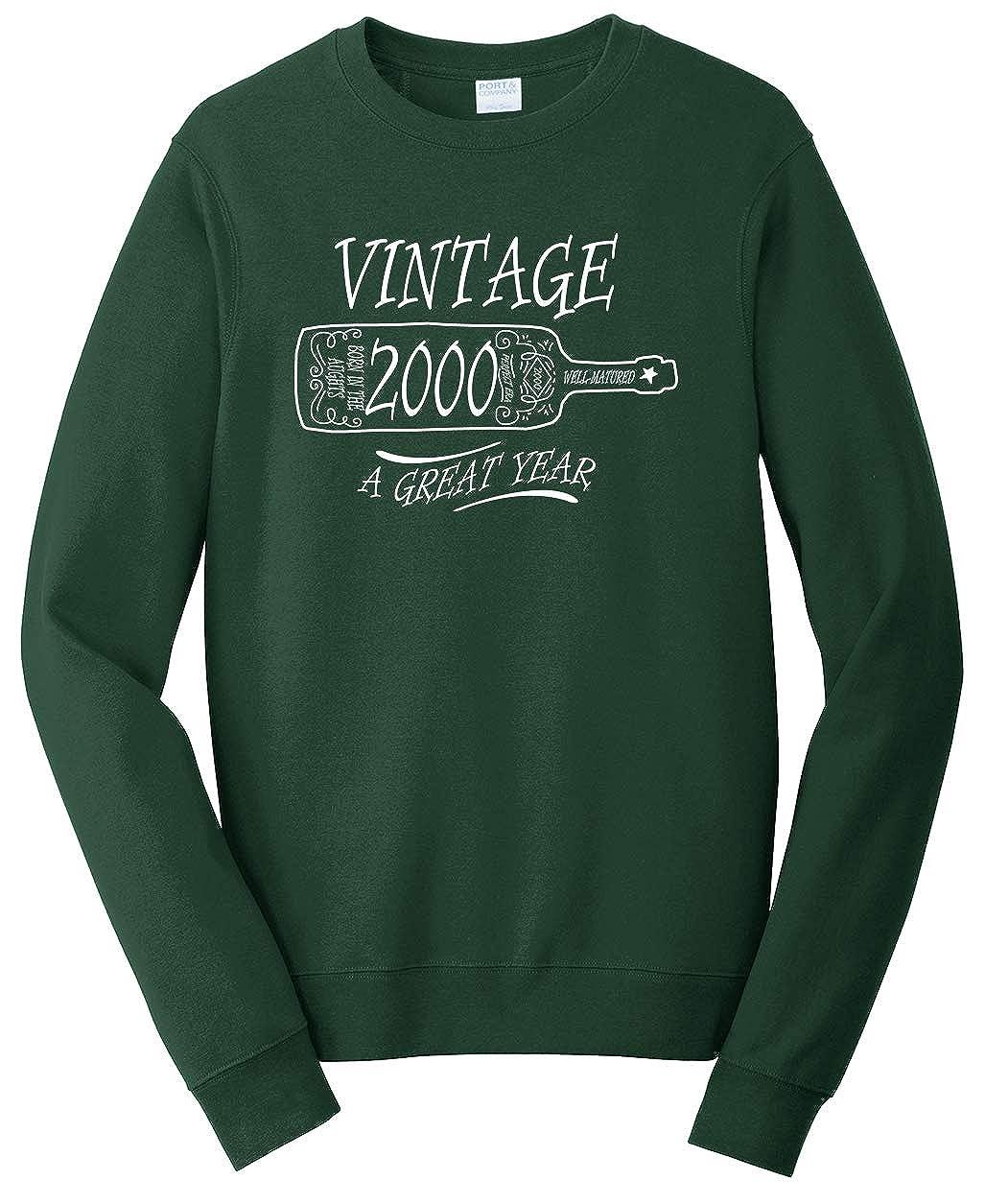 Tenacitee Unisex Aged Like a Fine Wine 2000 Sweatshirt