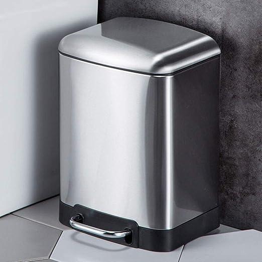 Xcco Contenedor de acero inoxidable con tapa, simplicidad ...