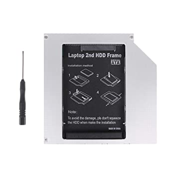 Anble 12.7mm 2nd HDD Caddy IDE a SATA 2.5