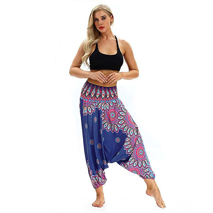 big sale f959d f2531 ManLinG7* Pantaloni Fitness Yoga Danza del Ventre Pantaloni ...