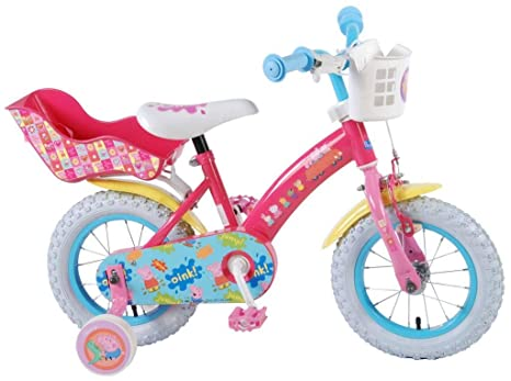Bicicleta Niña Peppa Pig 12 Pulgadas Ruedas Extraíbles la ...