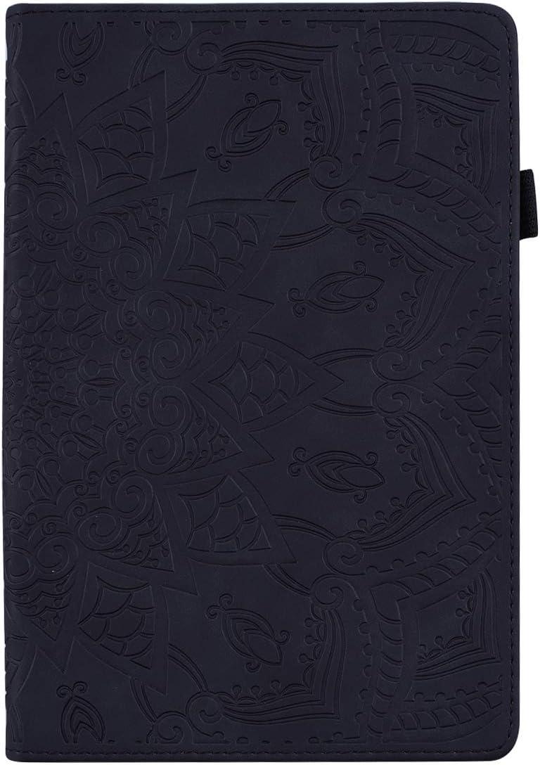 Hirkase Samsung T580 T585 Tab A6 10.1 Pulgadas, Tableta Fundaestuche Protector Ultrafino en Relieve Samsung 10.1 Pulgadas Pulgadas(Negro)