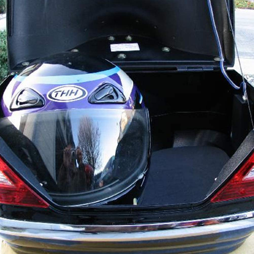 Universal Motorcycle Helmet Top Box Luggage Storage with Light for Motorbike Moped Back Rear Case