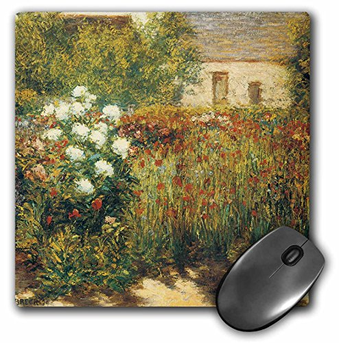 3dRose BLN Impressionist Fine Art Collection - Garden at Giverny by John Leslie Breck - MousePad (mp_127308_1)