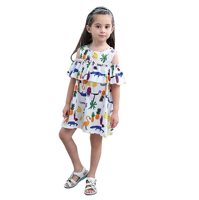 Vestido Estampado De Dibujos Animados Para Niñas AIMEE7 Ropa De Estampado De Dibujos Animados De Chicas