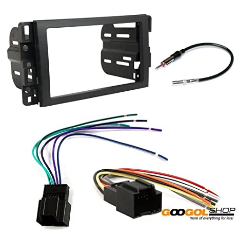 amazon com car stereo dash install mounting kit wire harness radio buick enclaive car stereo dash install mounting kit wire harness radio antenna buick chevrolet gmc hummer saturn pontiac