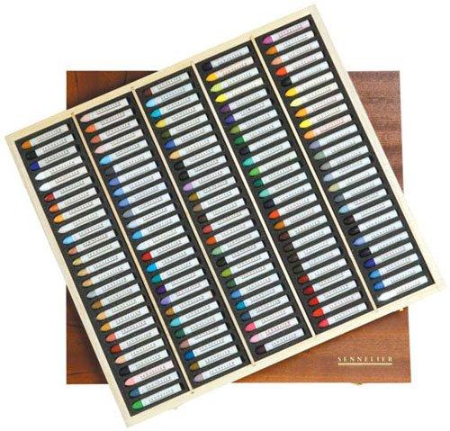 Sennelier Oil Pastel 120 Assorted Wood Box by SENNELIER