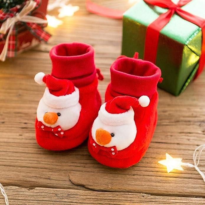 Amazon.com | FIged Kids Shoes, Merry Christmas Kids Festival Warm Shoes Snowman Soft Sole | Shoes