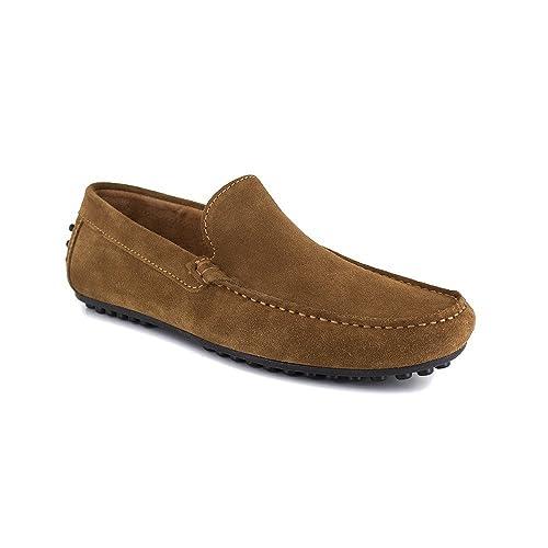 Mocasin J.Bradford - Cuero Conac JB-Navy: Amazon.es: Zapatos y complementos