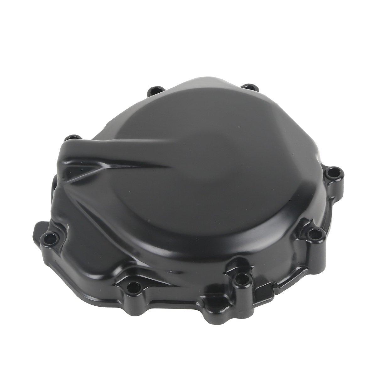 XFMT Black Left Aluminum Engine Stator Crankcase Cover For Suzuki GSXR1000 2005-2008