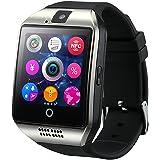 GreatCool Pantalla Arqueada NFC Bluetooth Reloj Inteligente Amarre Pulsera Smart Watch Compatible con Android Smartphone Soporta Llamada Mensaje SIM Para Smartphone Android con Dos Baterías
