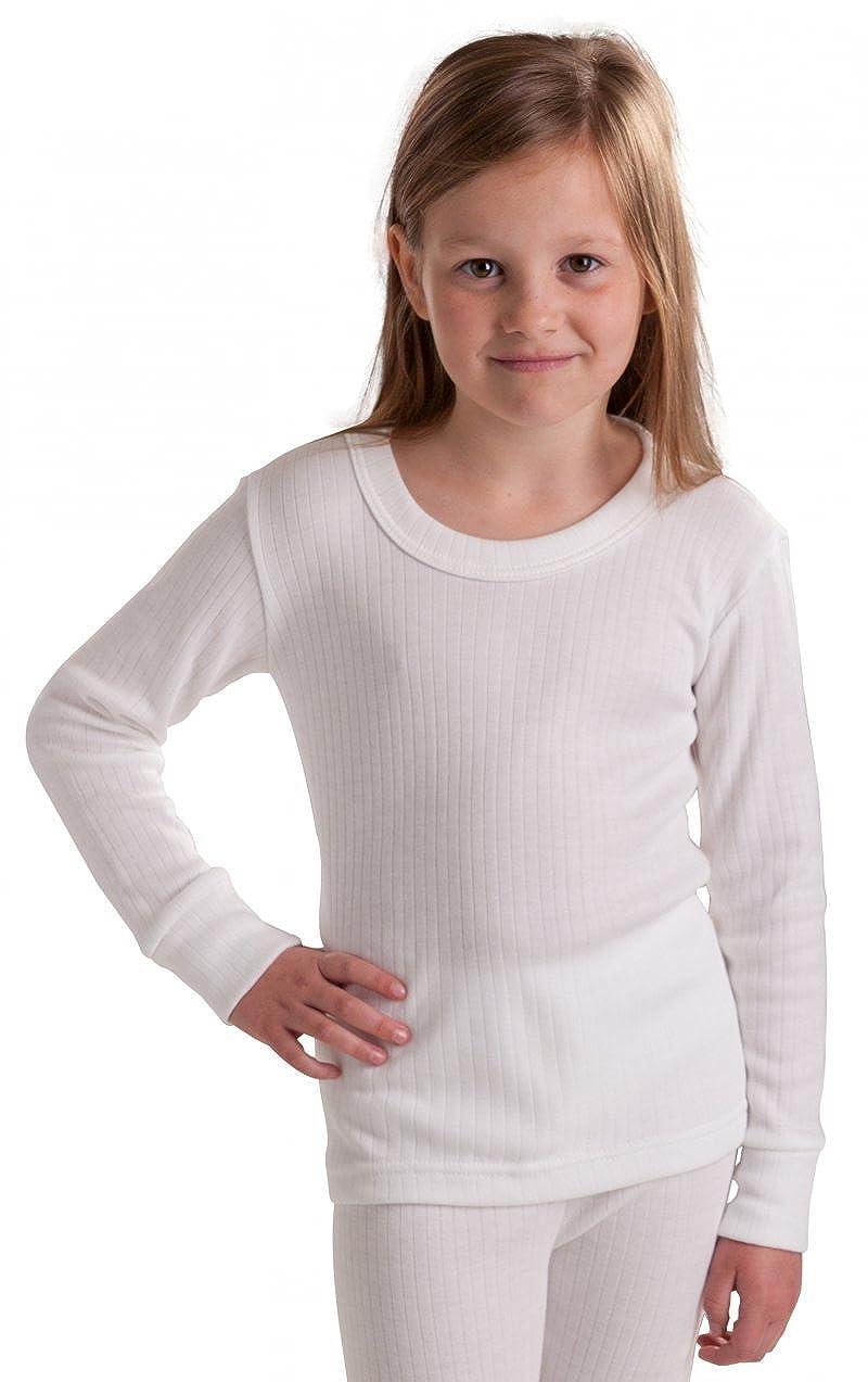 Octave Mädchen Thermo-Langarm-Shirt - extra warm - Made in GB - weiß - 12-13 Jahre [Brust: 76, 2-81, 2 cm]