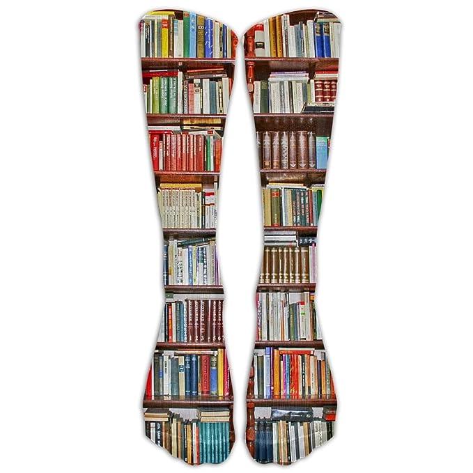 Awesome Neat Bookshelf Athletic Tube Stockings Womens Mens Classics Knee High Socks Sport Long Sock One