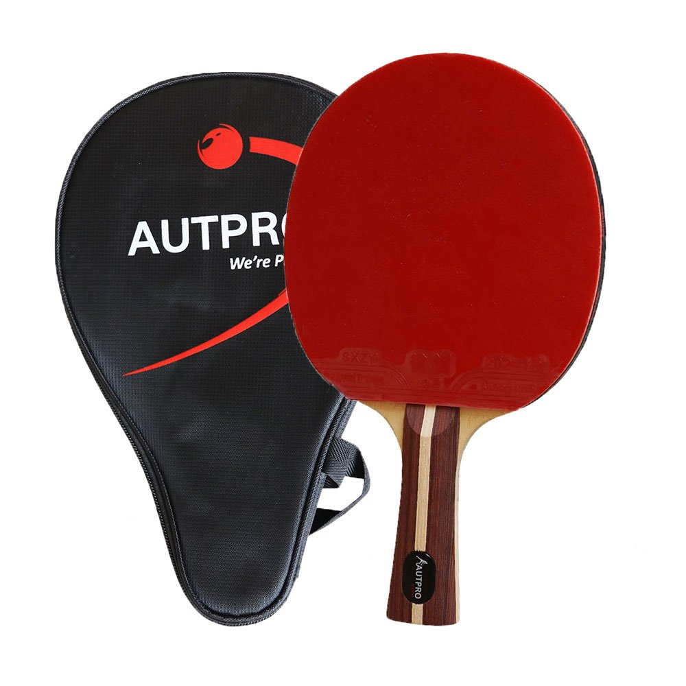 AUTPRO Pingpong Paddle With Case for More Speed Spin 5-Ply Wood Blade 2.2mm Rubber & Spong Table Tennis Racket Bat for Amateur to Expert B075K44BP2