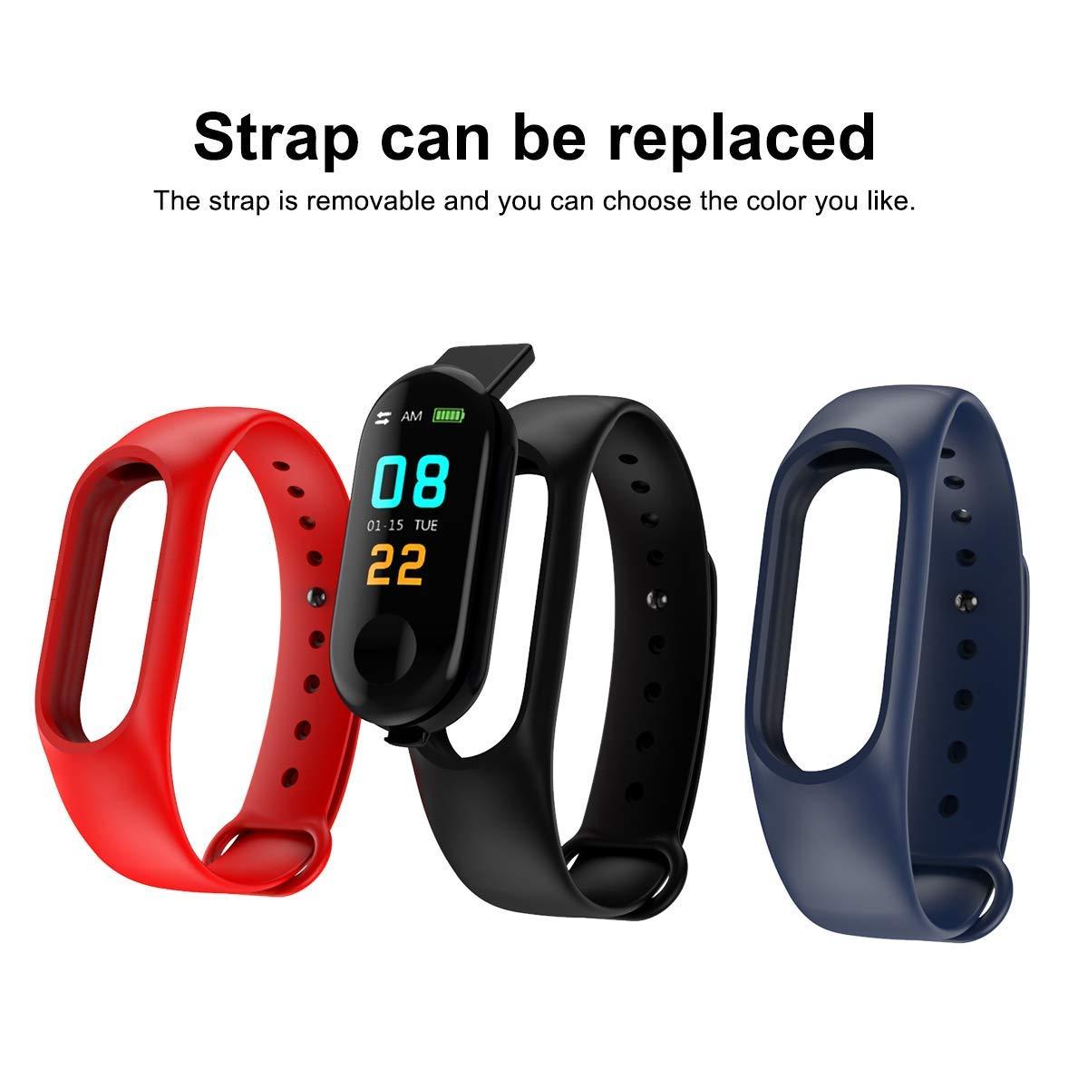 PLEXTONE Fitness Tracker Heart Rate Fitness Wristband Smart Watch Waterproof IPX6 Activity Tracker Blood Pressure Smart Bracelet with Stopwatch Sport GPS Pedometer Women Men (red)