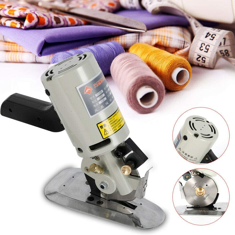 90MM Electric Fabric Cutter Round octagon Rotary Blade Cloth Cutting Machine US