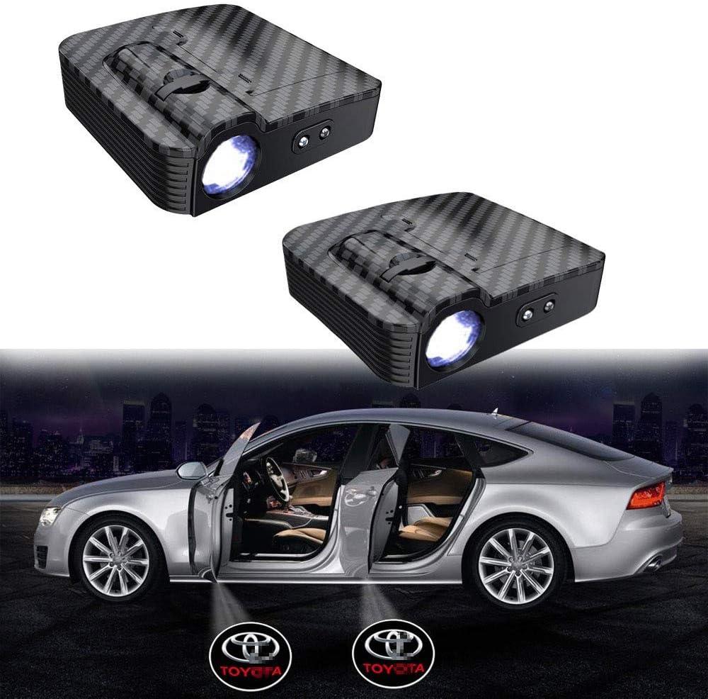 Xtrxtrdsf 2019 2ST Auto-T/ür-Led Logo-Projektor-Licht drahtlose Lampe Willkommen-Geist-Schatten-Licht Color : for BMW 3M