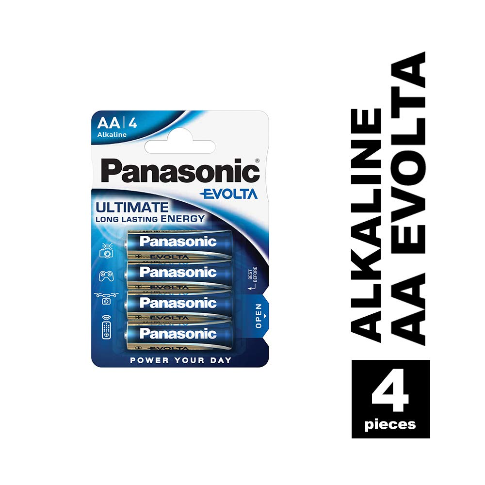 Panasonic Blister 4 Pilas Alcalinas AA LR6 EVOLTA: Amazon.es ...