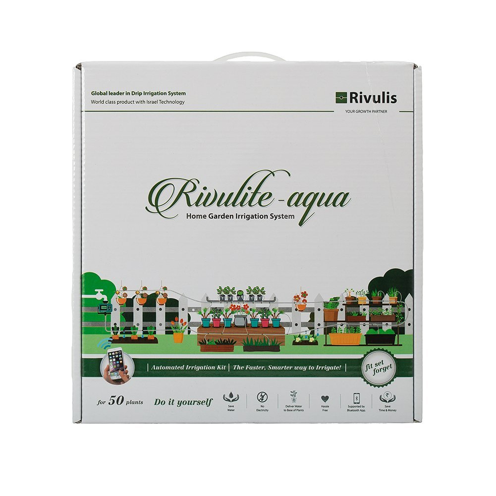 Rivulis Rivulite-Aqua Automatic Home Garden Irrigation System (White)