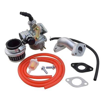 GOOFIT Carburador Minimoto, PZ19 con Filtro de Aire 35mm con Tubo Combustible Kit de Admision para XR CRF 50cc 70cc 90cc 110cc 125cc Pit Bike Scooter ...