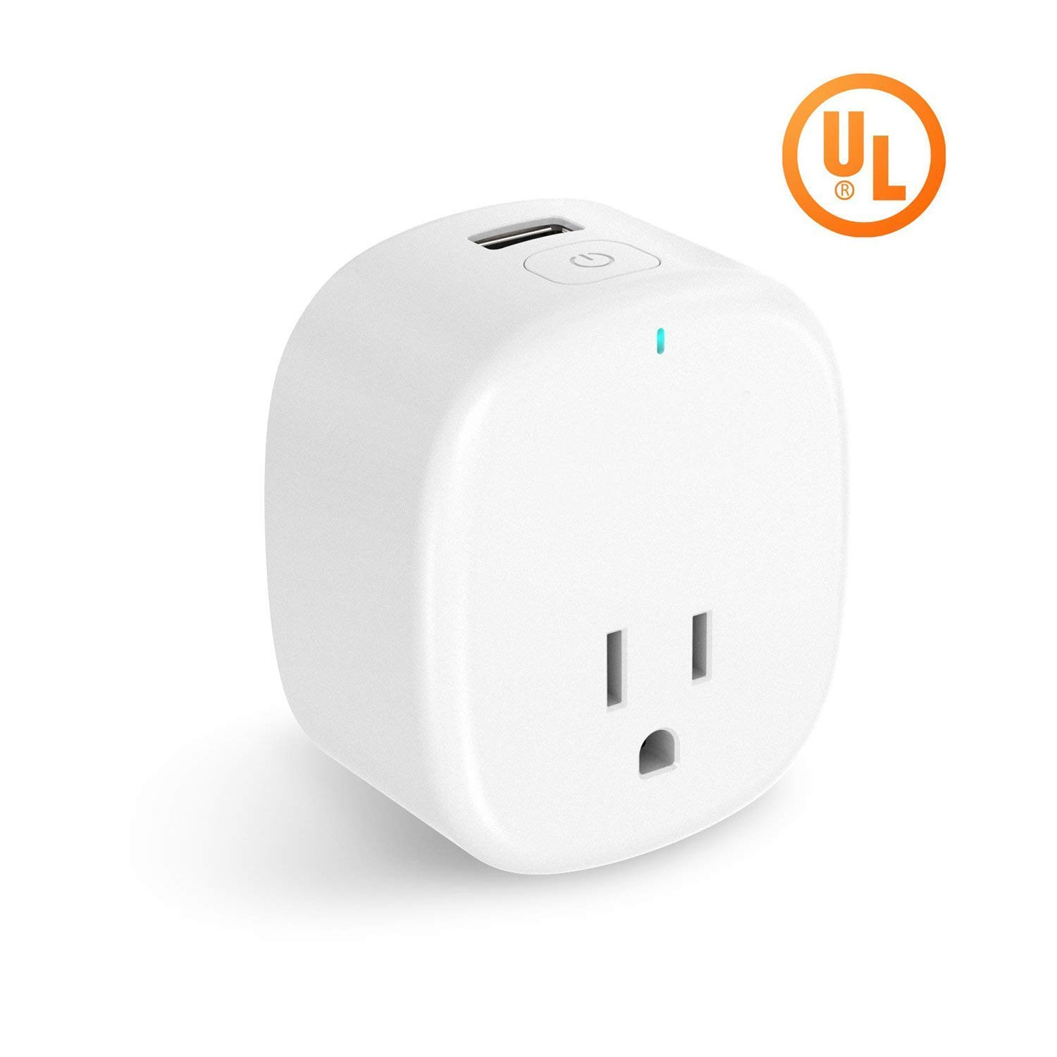 Smart Wi-Fi Plug - Control your Devices from Anywhere, Anytime, No Hub Required, Compatible with Alexa and Google Assistant, Support IFTTT (1 Pack Wifi Plug USB)