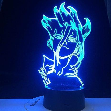 3D Lamp Led Night Light Base Dr Stone Figure Anime Bedroom Decor For KIDS boys !
