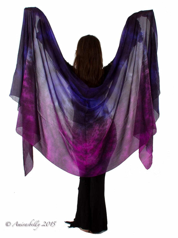 """Galaxy"" Belly Dance Silk Veil for Belly Dancers"