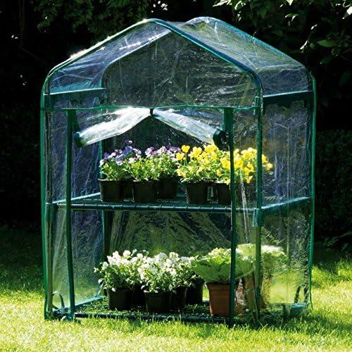 Edco - Invernadero de jardín de invierno con dos pisos: Amazon.es: Jardín