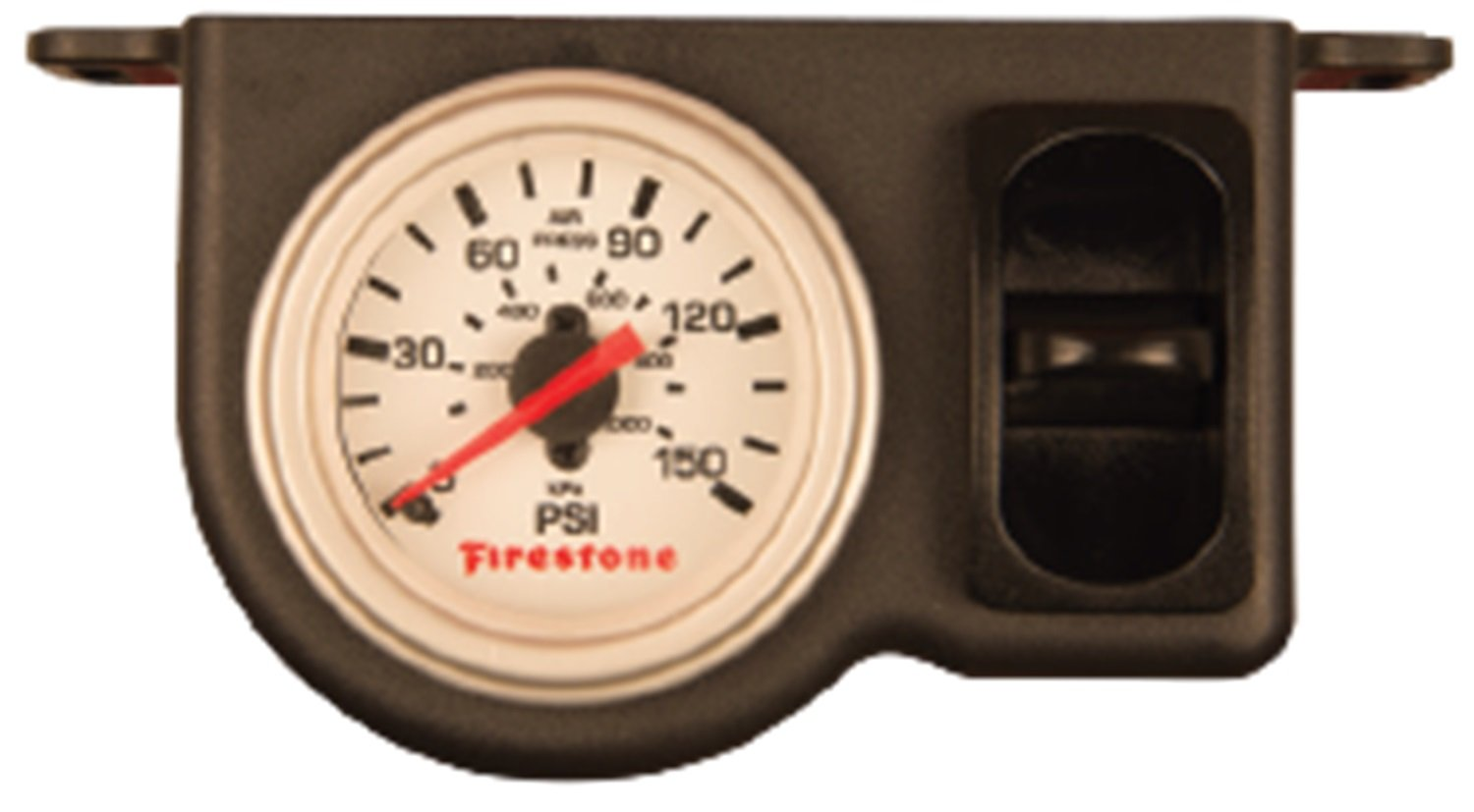 Firestone Ride-Rite 2572 Firestone WR17602572 Plastic Single Electric White Gauge