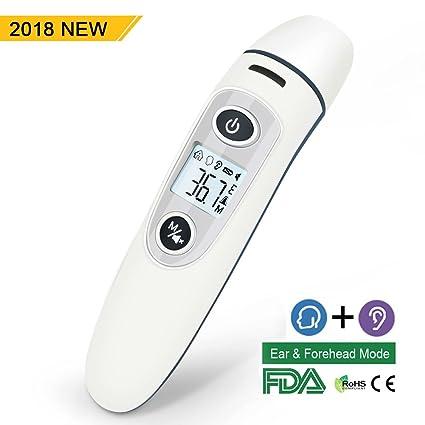 Termometro Digital Bebe, Telgoner Infrarrojo Médico Termómetros de frente y oído para bebés, niños