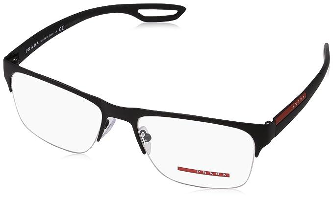 2cf84548b4c Prada Linea Rossa Men s PS 55FV Eyeglasses 56mm at Amazon Men s ...