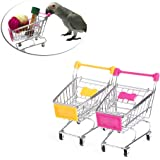 Onpiece Parrot Bird Supermarket Shopping Cart Intelligence Growth Funny Toys Pink/Yellow