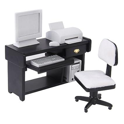 Amazon.es: Juegos de 1:12 Casa de Muñecas Muebles Impresora ...