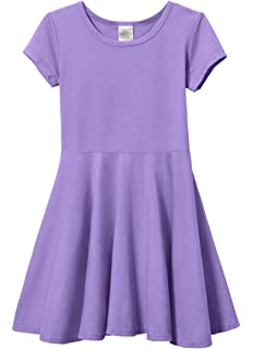 Hanna Andersson Purple Short Sleeve Ruffle Dress Neither Too Hard Nor Too Soft Girls Size 100 4