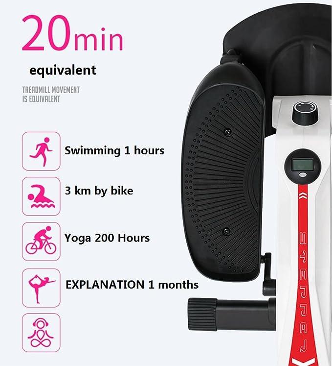 Máquina de paso casa adelgazar máquina jogging mini máquina elíptica trotadora equipo de ejercicio , 1: Amazon.es: Salud y cuidado personal