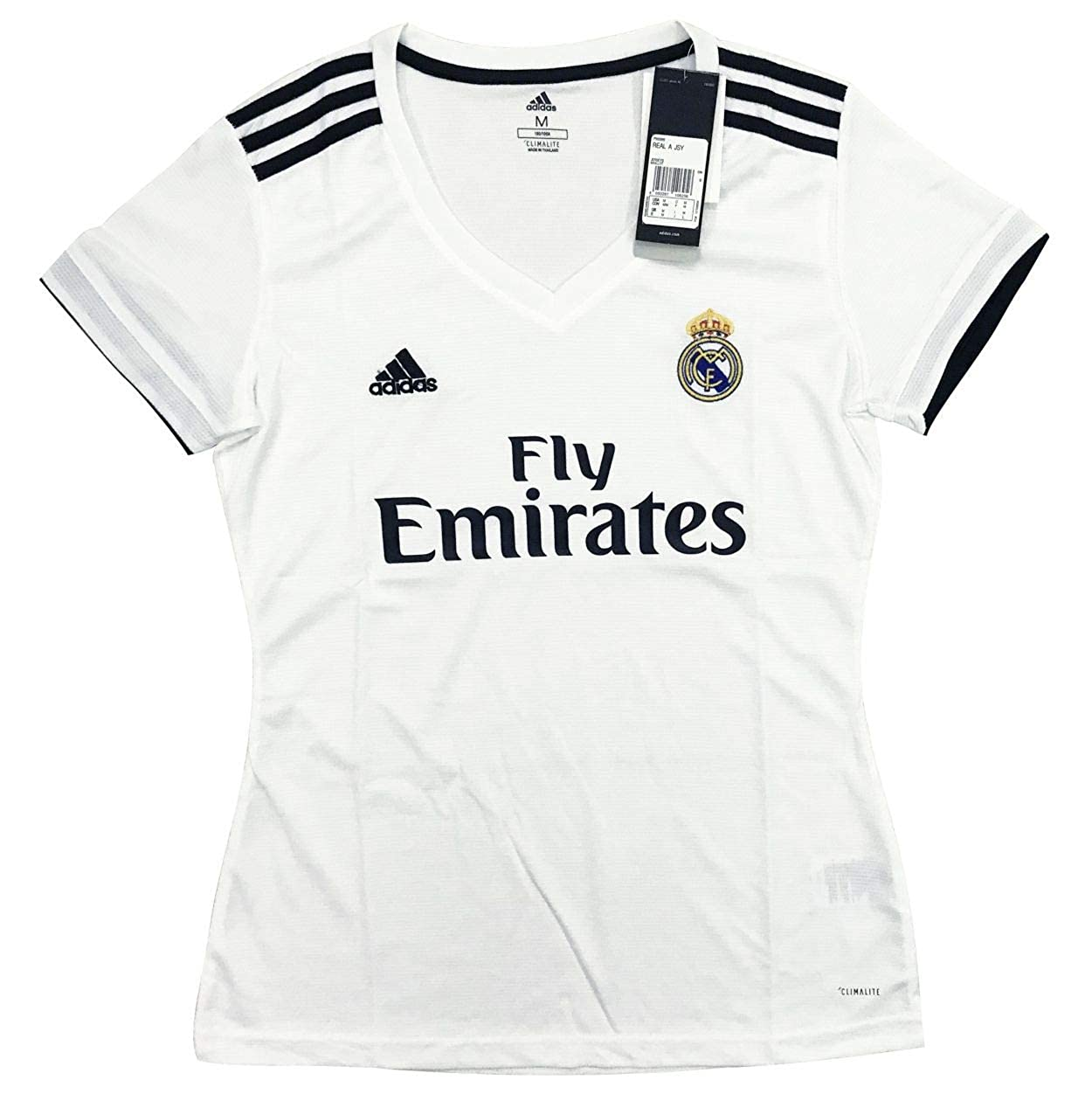 7072f8eac Amazon.com  New 2018 2019 Women s Real Madrid Home Jersey  Clothing