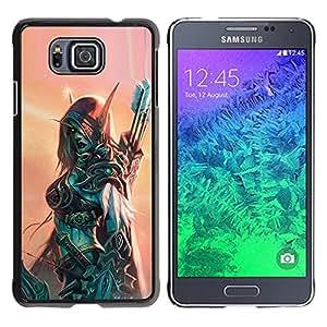 iKiki Tech / Estuche rígido - Hero Woman Armor Archer Game - Samsung GALAXY ALPHA G850