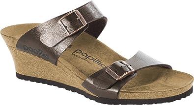 fbc7fc0259 Birkenstock Women's Papillio, Dorothy Mid Heel Wedge Sandals Toffee 3.6 M