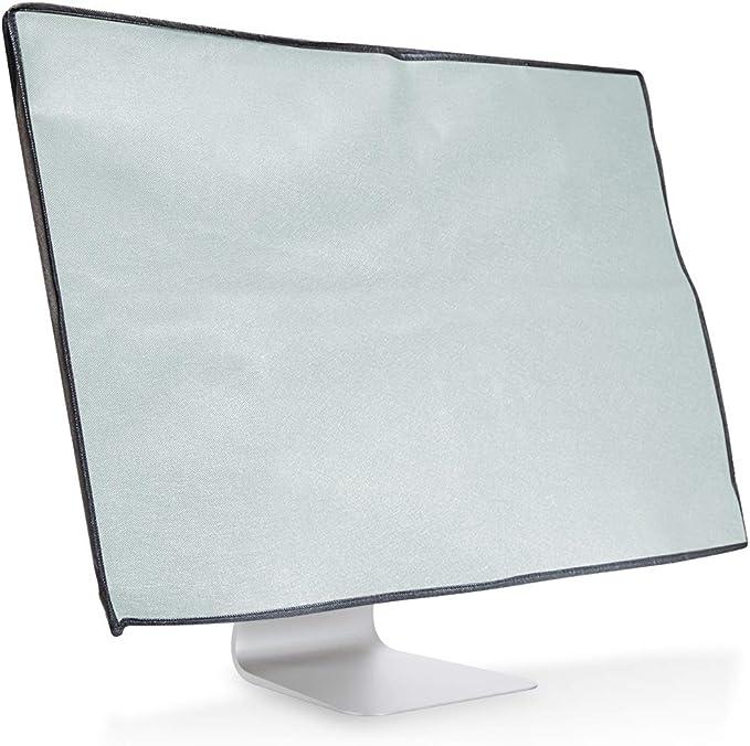 Kwmobile Hülle Kompatibel Mit 24 26 Monitor Pc Bildschirm Schutzhülle Computer Cover Case Hellgrau