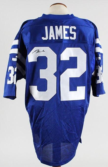 sale retailer 13b75 5bfaa Edgerrin James Signed Jersey Colts - COA JSA at Amazon's ...